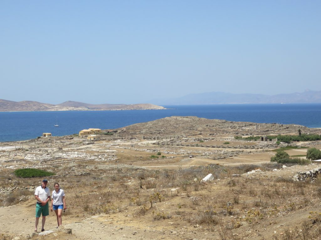 a day trip to Delos from Andros