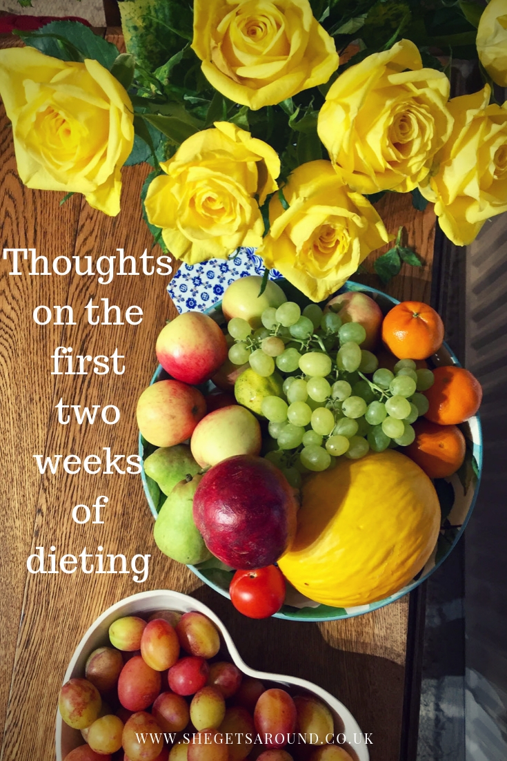 Thoughts on the first two weeks of dieting