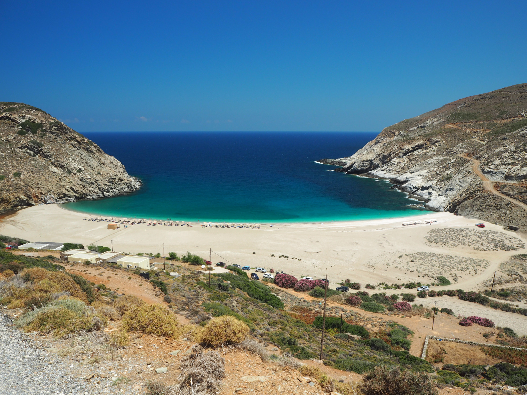 Best hiking trails in Andros - Zorkos Beach