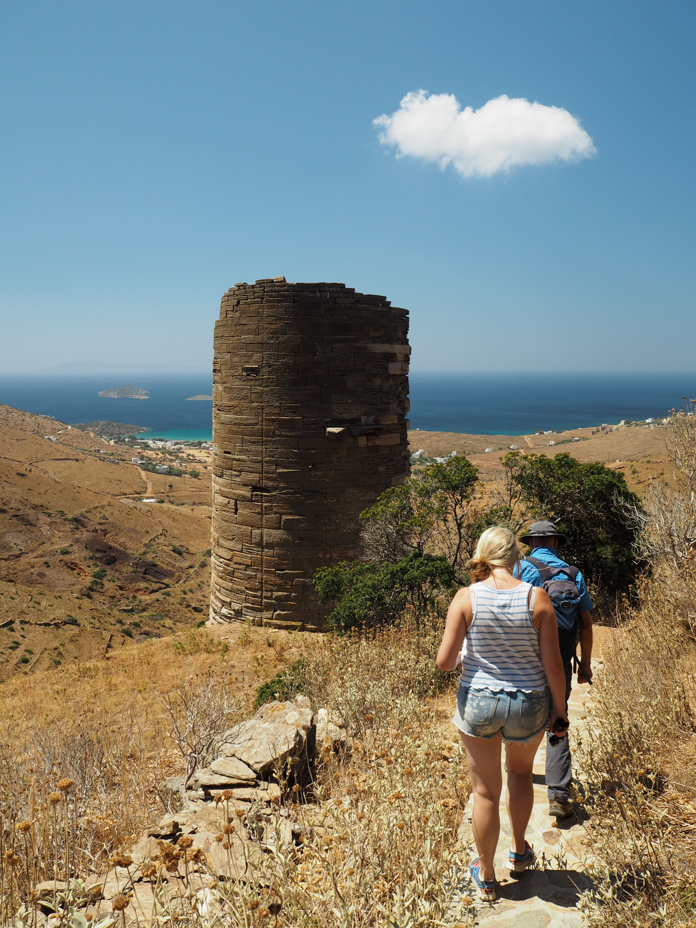 Best hiking trails in Andros - Agios Petros Tower
