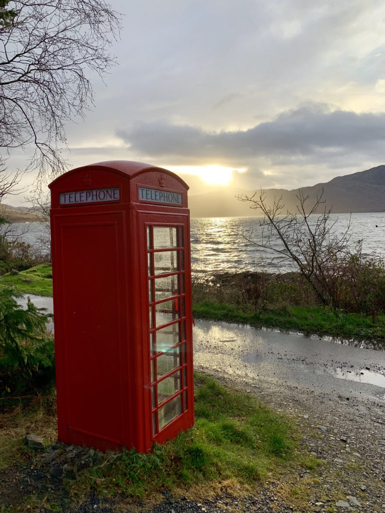 Inverie, Knoydart, post office & phone box