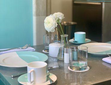 Food at the Blue Box Cafe - Tiffany's