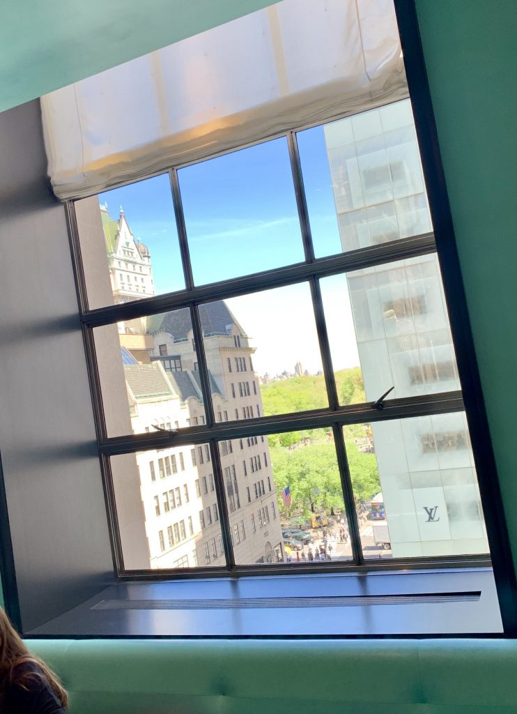 The View from the Blue Box Cafe at Tiffany's