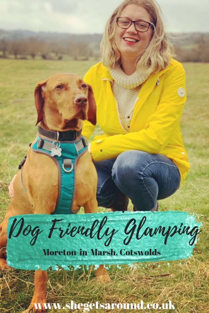 Dog friendly Glamping in Morton-in-Marsh in the Cotswolds. Jen Lowthrop and Rowland.