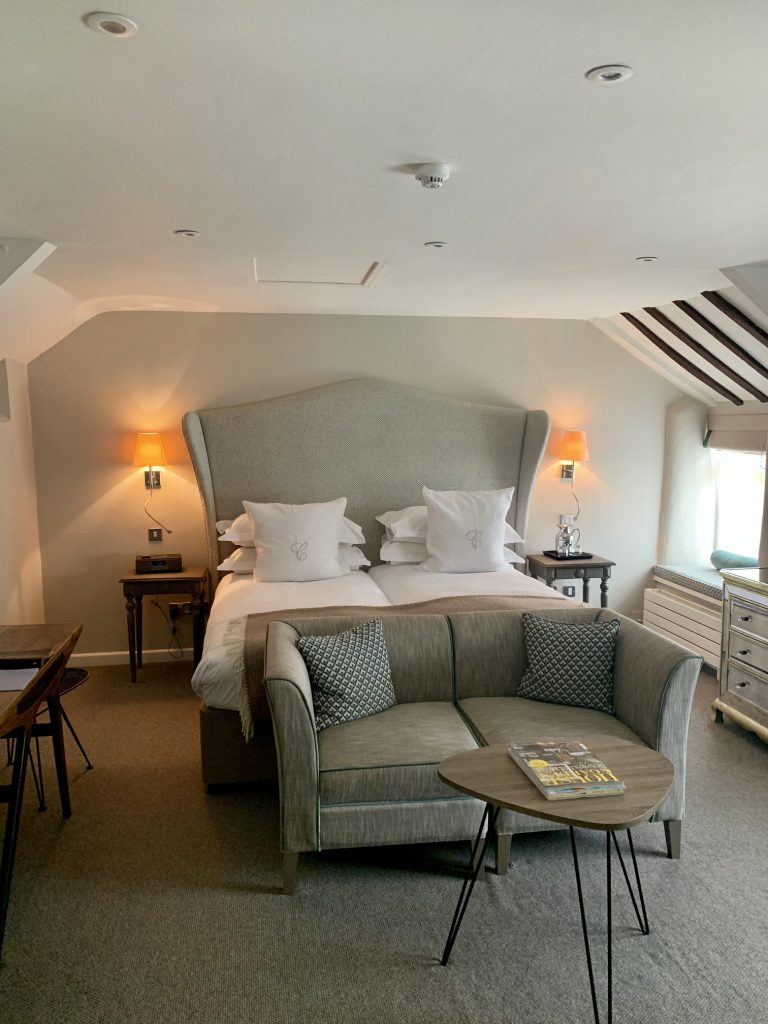 The bedroom at Calcot Manor