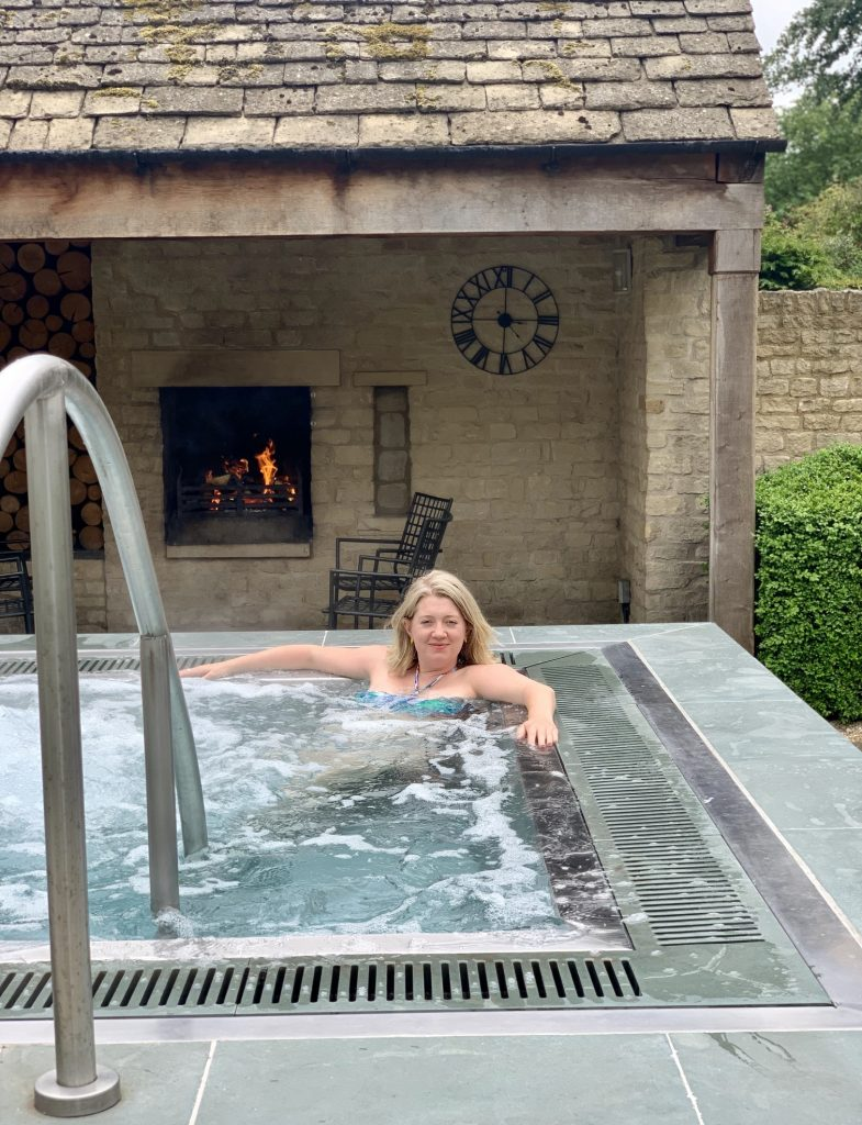 The Spa at Calcot Manor - outside jacuzzi