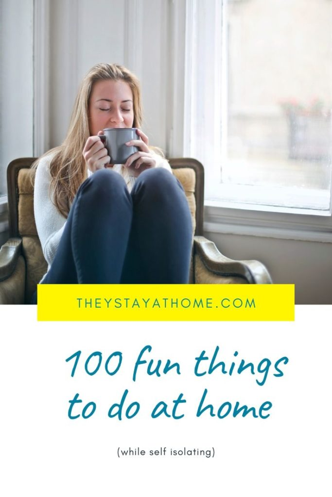 100 fun things to do at home