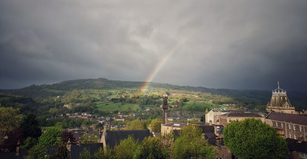 Photos of Matlock in Lockdown - photo by Ashley Bird, thanks and rainbows