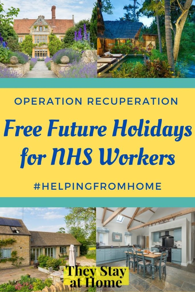 Helping from Home - free holidays for NHS workers - Operation Recuperation