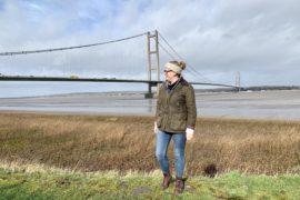 The Humber Bridge in February