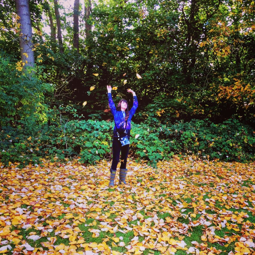 Top Things to Enjoy about Autumn Walks - Leaf throwing