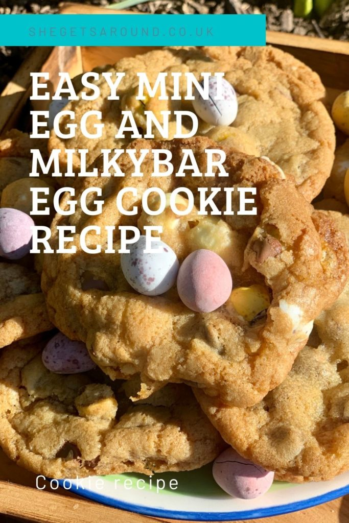 Delicious and easy mini egg and white chocolate cookies. So yummy you will want to make then all year round, not just for Easter.