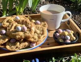 Easy Mini Egg and White Chocolate Cookies