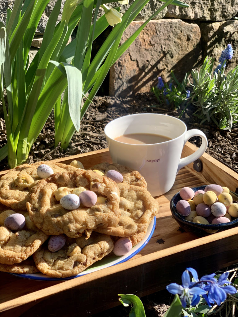 Easy Mini Egg and White Chocolate Cookies