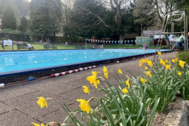 The New Bath Hotel Lido in Matlock in Spring