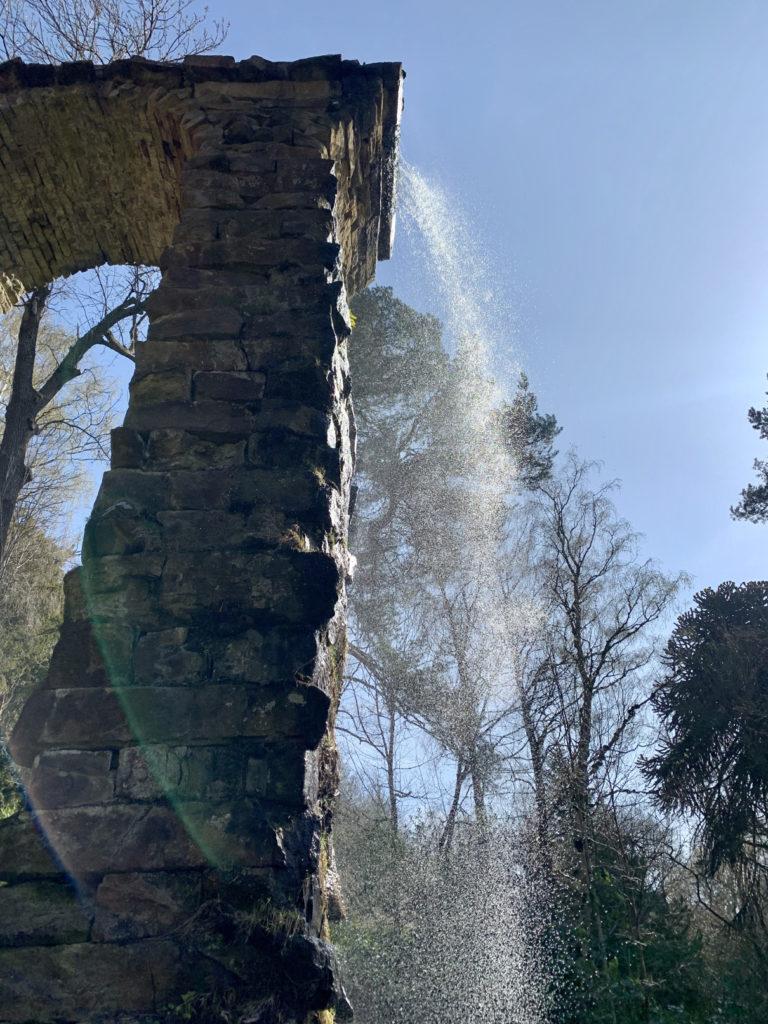 Waterfalls above Chatsworth House, Derbyshire