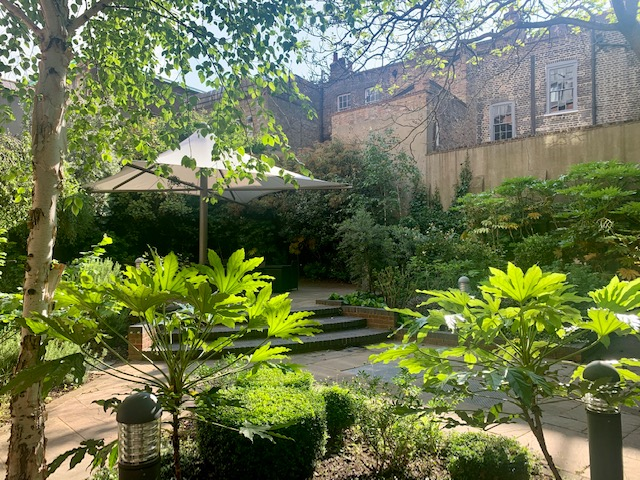 Point A Hotel Liverpool Street garden- weekend in Shoreditch