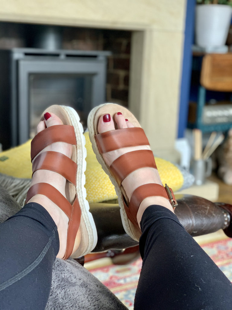 brown leather gabbie barbour sandals from sandalshop